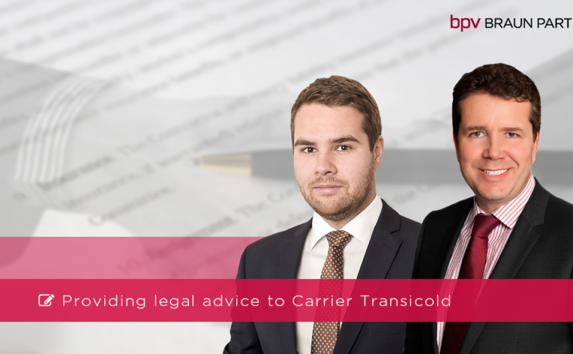bpv BRAUN PARTNERS provided legal advice to Carrier Transicold