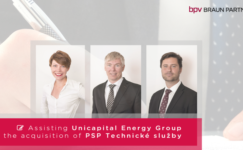 bpv BRAUN PARTNERS assisted Unicapital Energy Group in the acquisition of PSP Technické služby